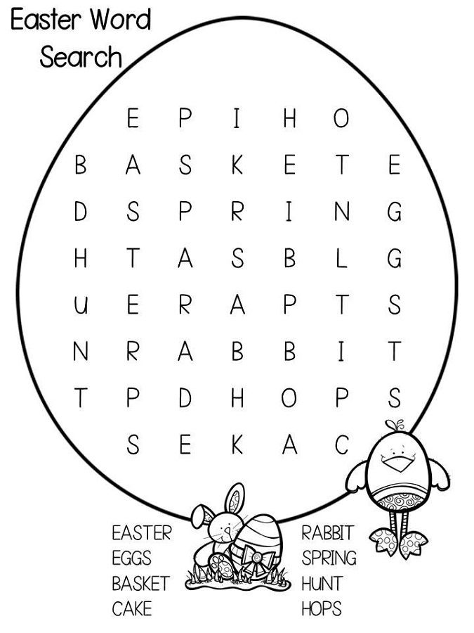 Word Search Easy Printable