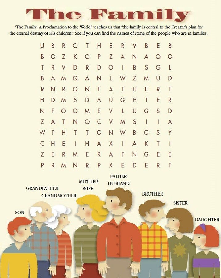 Word Search For Children Family
