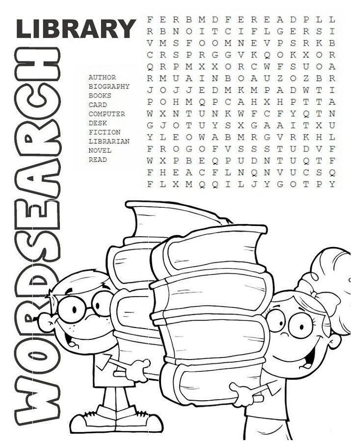 Word Search Kids Library