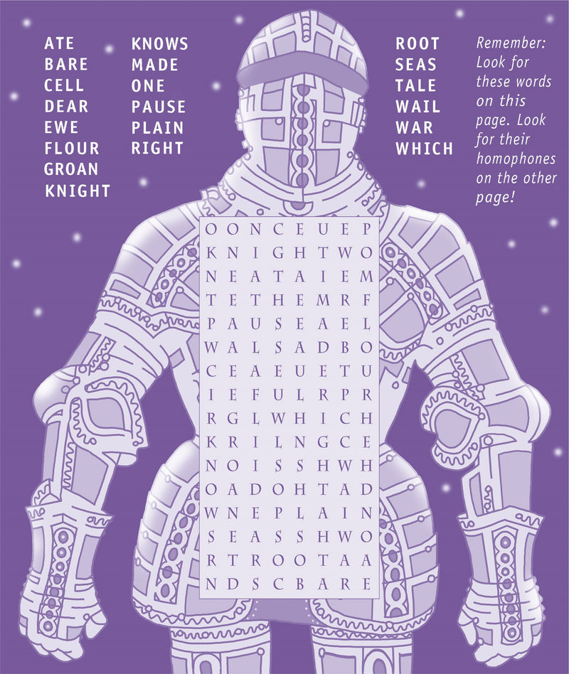 Word Search Puzzle For Kids Medieval