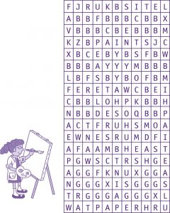 Word search puzzles for kids art 001