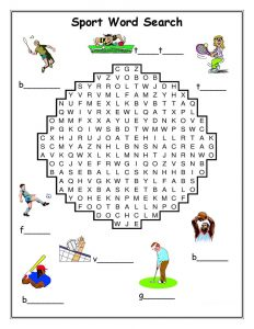 Word search sports printable