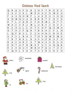 Word searches for children christmas