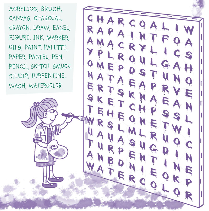 Word Searches For Kids Art