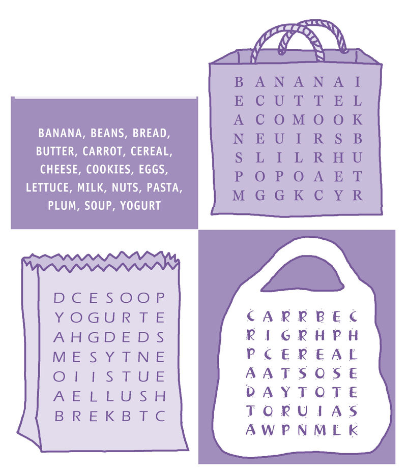 Word Searches For Kids Food