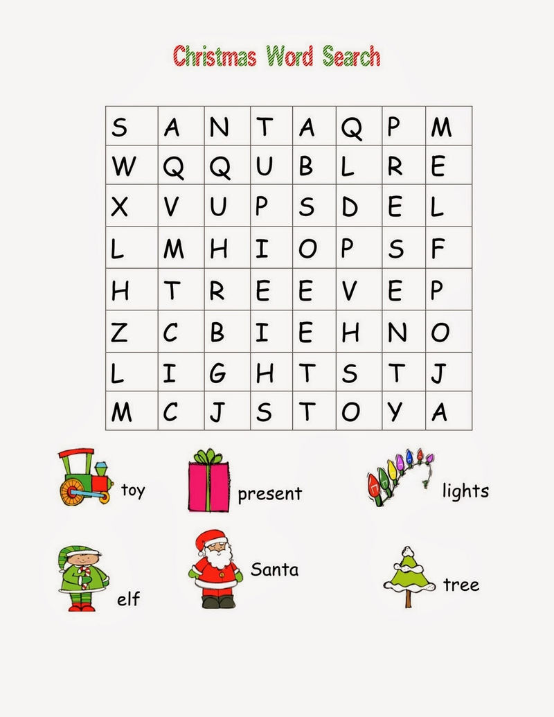Word Searches For Kids Simple 001