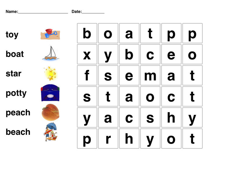 Wordsearch For Kids Easy