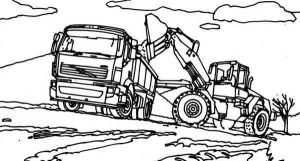 Working truck coloring pages