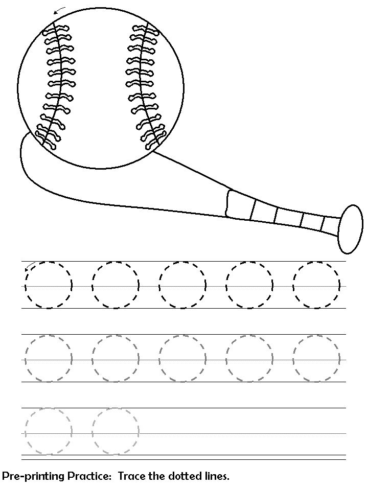 Worksheets For 3 Year Olds Tracing 001