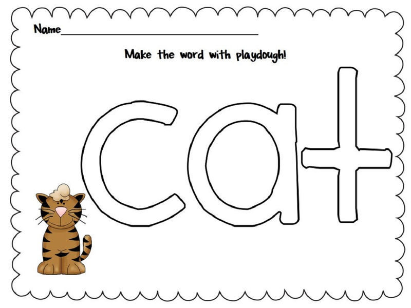 Worksheets For 4 Year Olds Cat