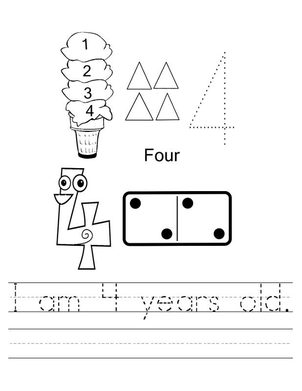 Worksheets For 4 Year Olds Free
