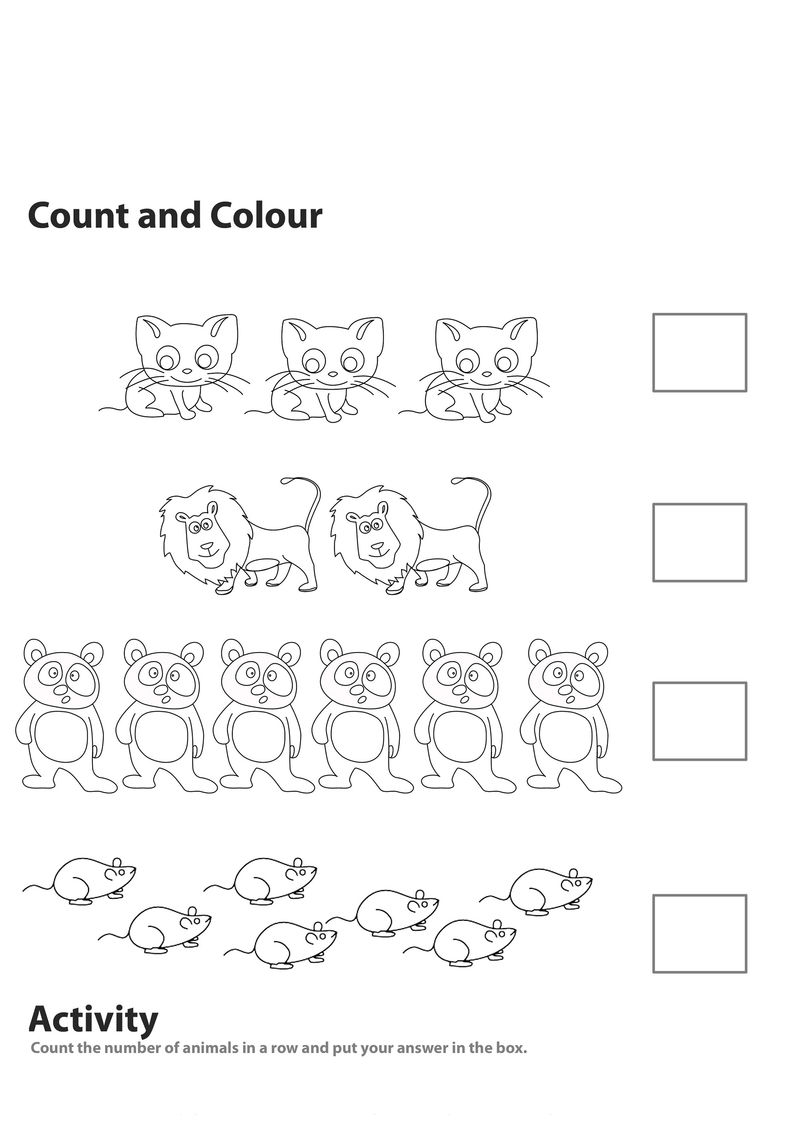 Worksheets For 5 Year Olds Fun