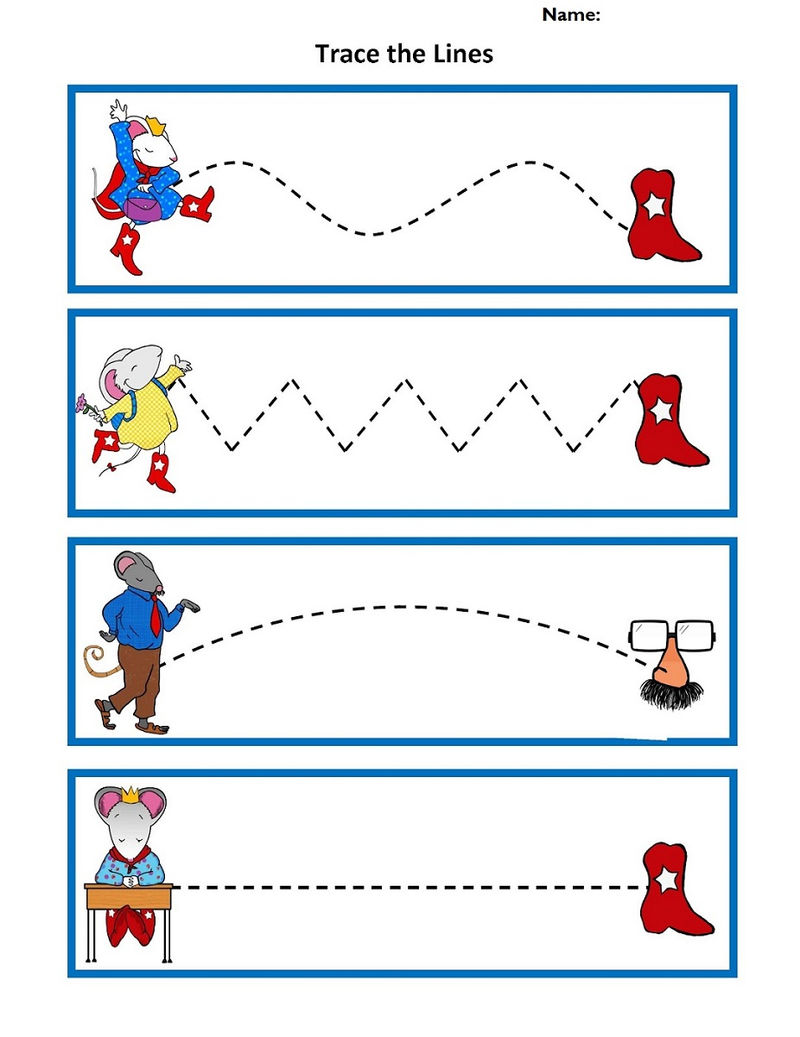 Worksheets For 5 Year Olds Trace