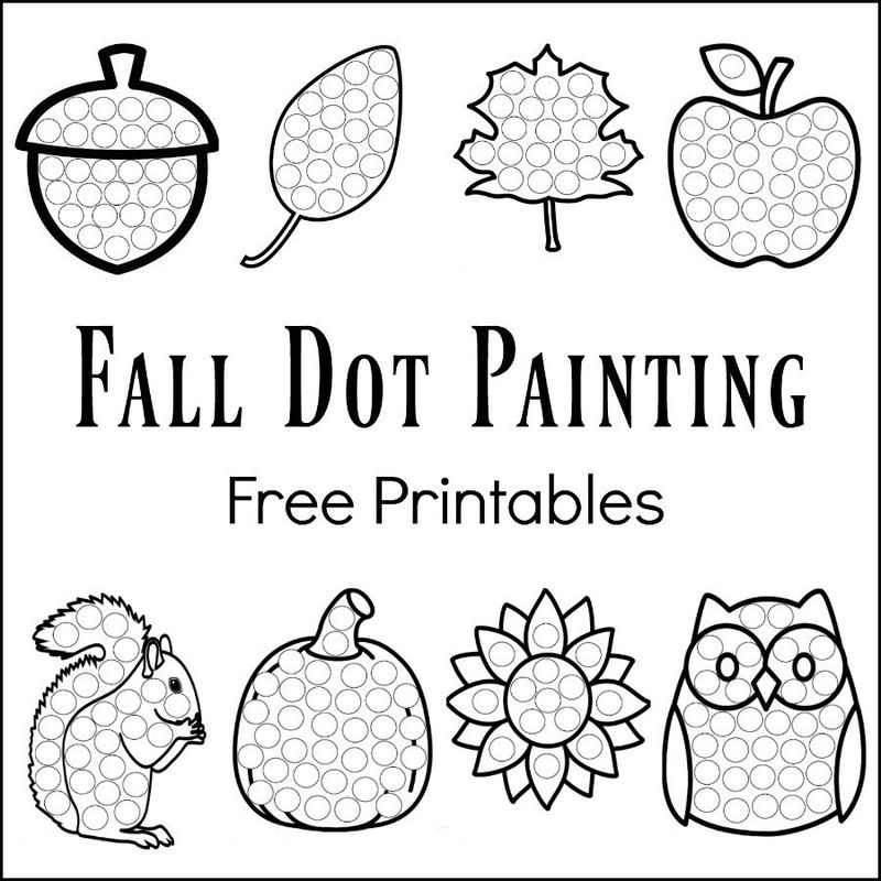 Worksheets For Two Year Olds Dot Painting