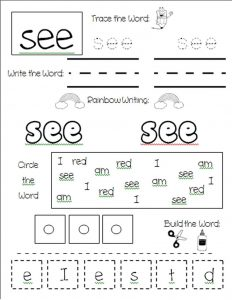 Worksheets that work tracing