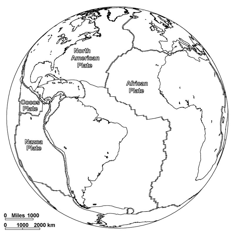 World Map Coloring Pages For Kids