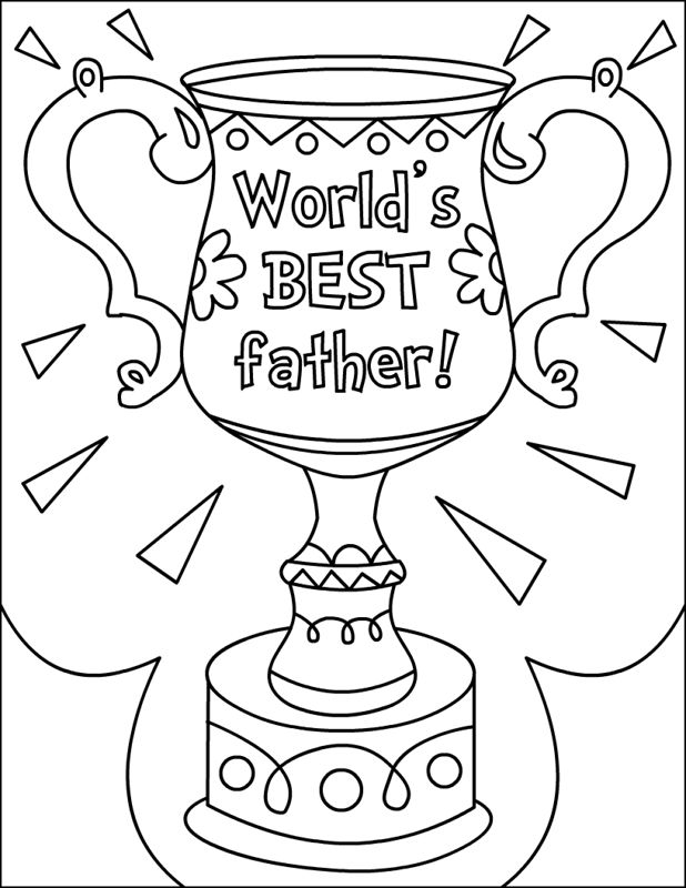 Worlds Best Fathers Day Coloring Page 001