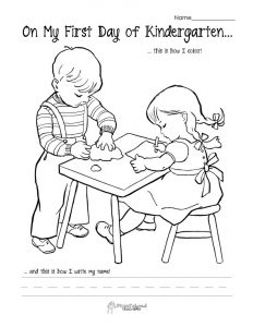 Write your name kindergarten coloring worksheet