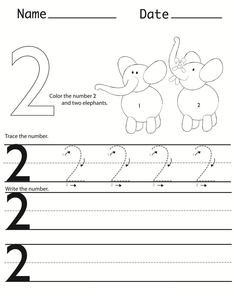 Writing Numbers Worksheets For Kids