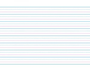 Writing paper printable colour