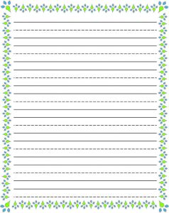 Writing paper printable template