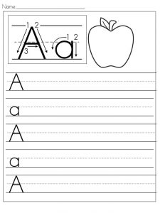 Writing worksheets for preschoolers