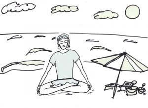Yoga coloring pages easy