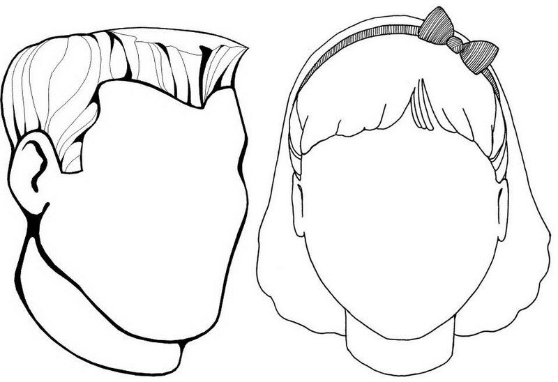 Young Blank Face Coloring Page