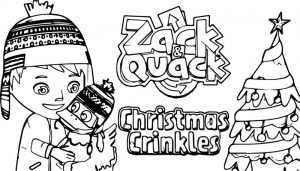 Zack and quack christmas crinkles coloring page
