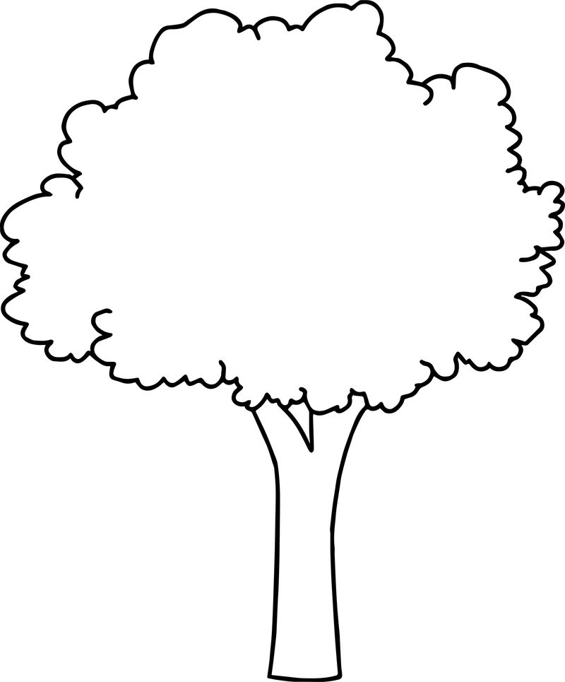 Zealous Apple Tree Coloring Page