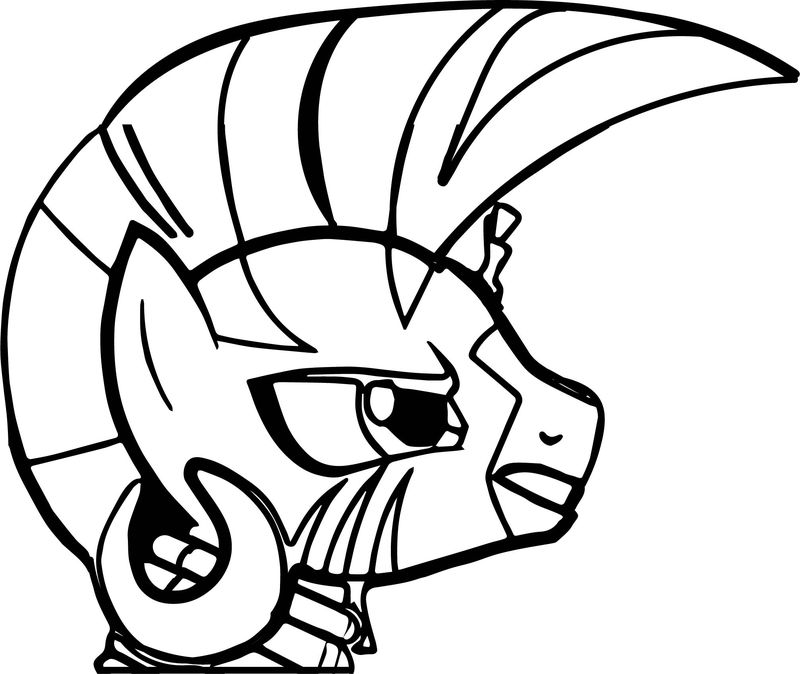 Zecora Angry Face Coloring Page