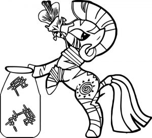 Zecora flower bottle coloring page