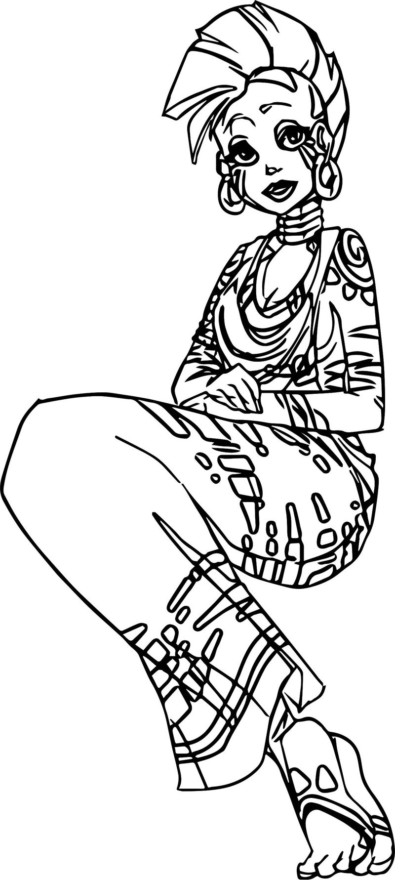 Zecora Girl Sitdown Coloring Page