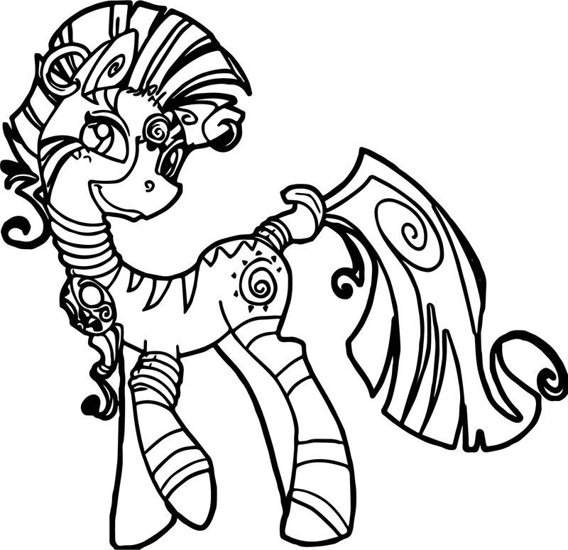 Zecora Girlfriend Horse Coloring Page