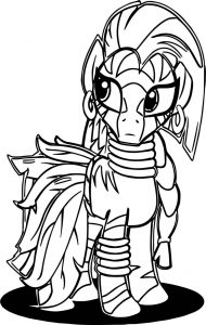 Zecora leaf dress cartoon coloring page