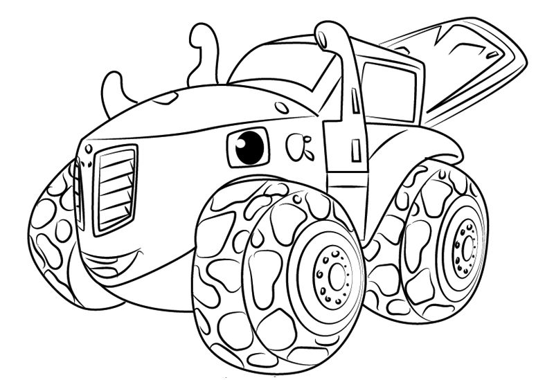 Zeg From Blaze And The Monster Machines Coloring Pages