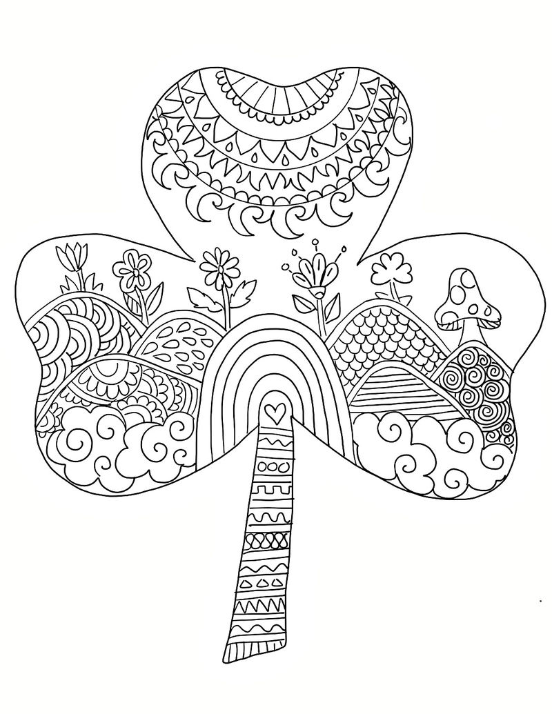 Zen St Patricks Day Coloring Pages