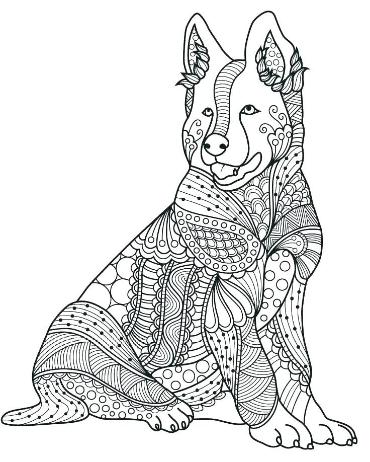 Zendog Coloring Page For Adults