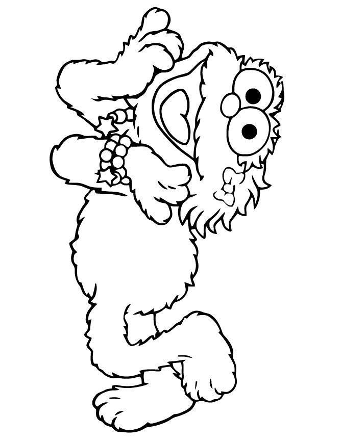 Zoe Sesame Street Coloring Pages 1