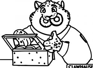 Zootopia clawhauser police lion coloring page