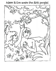 Adam and Eve Coloring Pages - Adam and Eve Coloring Pages for Kids Free Adam and Eve Coloring Pages Lovely Adam and 1e