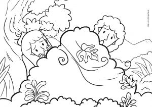 Adam and Eve Coloring Pages - Adam Eve Bible Coloring Pages 17b