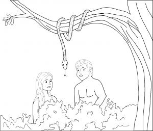 Adam and Eve Coloring Pages for Preschool - Adam and Eve Coloring Pages Adam and Eve and the Snake Coloring Page 5e