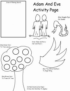Adam and Eve Coloring Pages for Preschool - Adam and Eve Bible Coloring Pages Lovely Adam and Eve Bible Coloring Pages Vosvete 19a