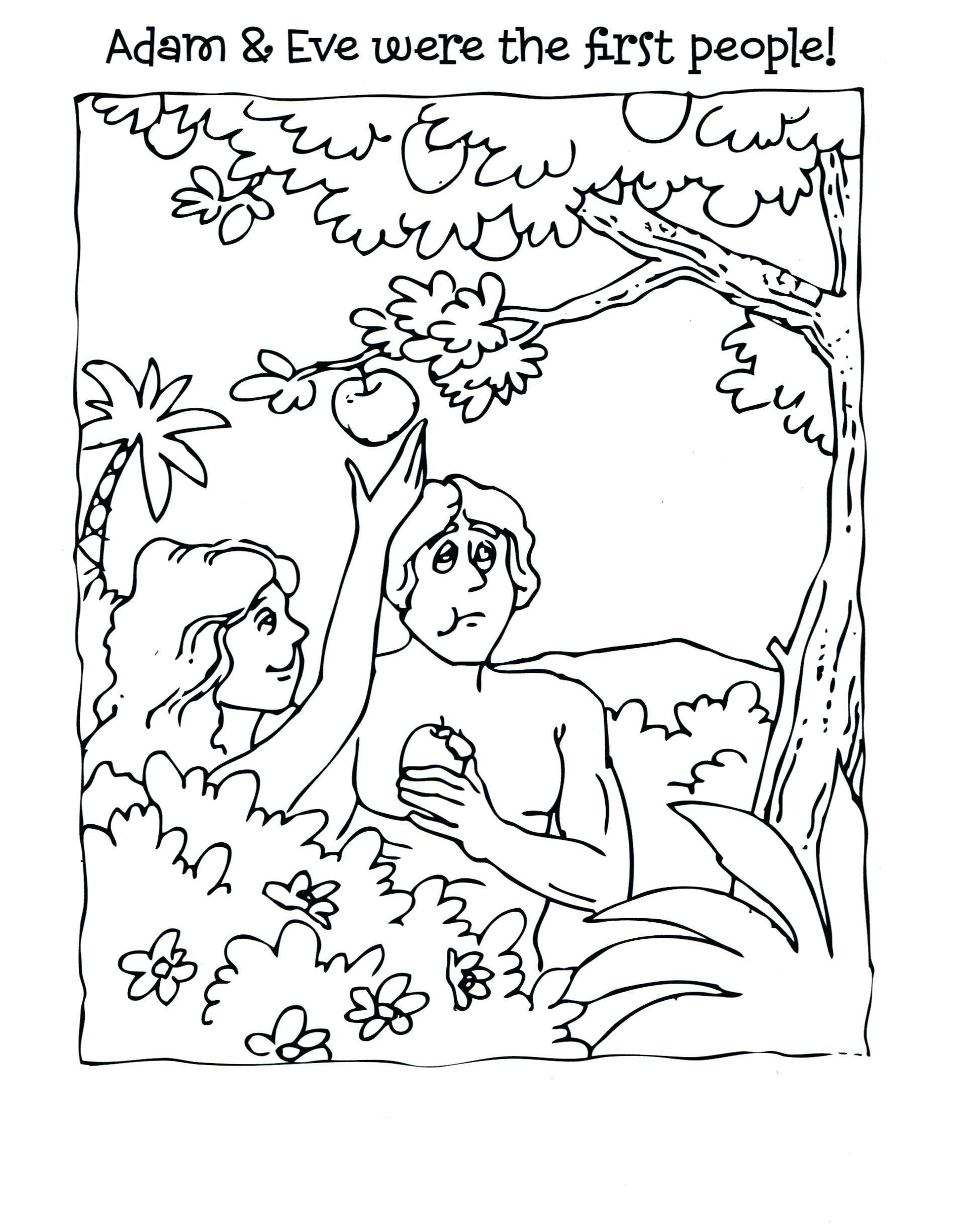 adam and eve coloring pages printable Download-Adam and Eve Coloring Pages for Kids Free Adam and Eve Coloring Pages Lovely Adam and 14-b