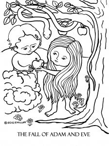 Adam and Eve Coloring Pages Printable - Adam and Eve Coloring Pages A Day 3 the Fall Adam and Eve Coloring Page 3e