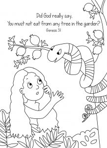 Adam and Eve Coloring Pages Printable - Snake Color Pages Biblical Coloring Pages Elegant Adam and Eve and the Sneaky Snake 10p