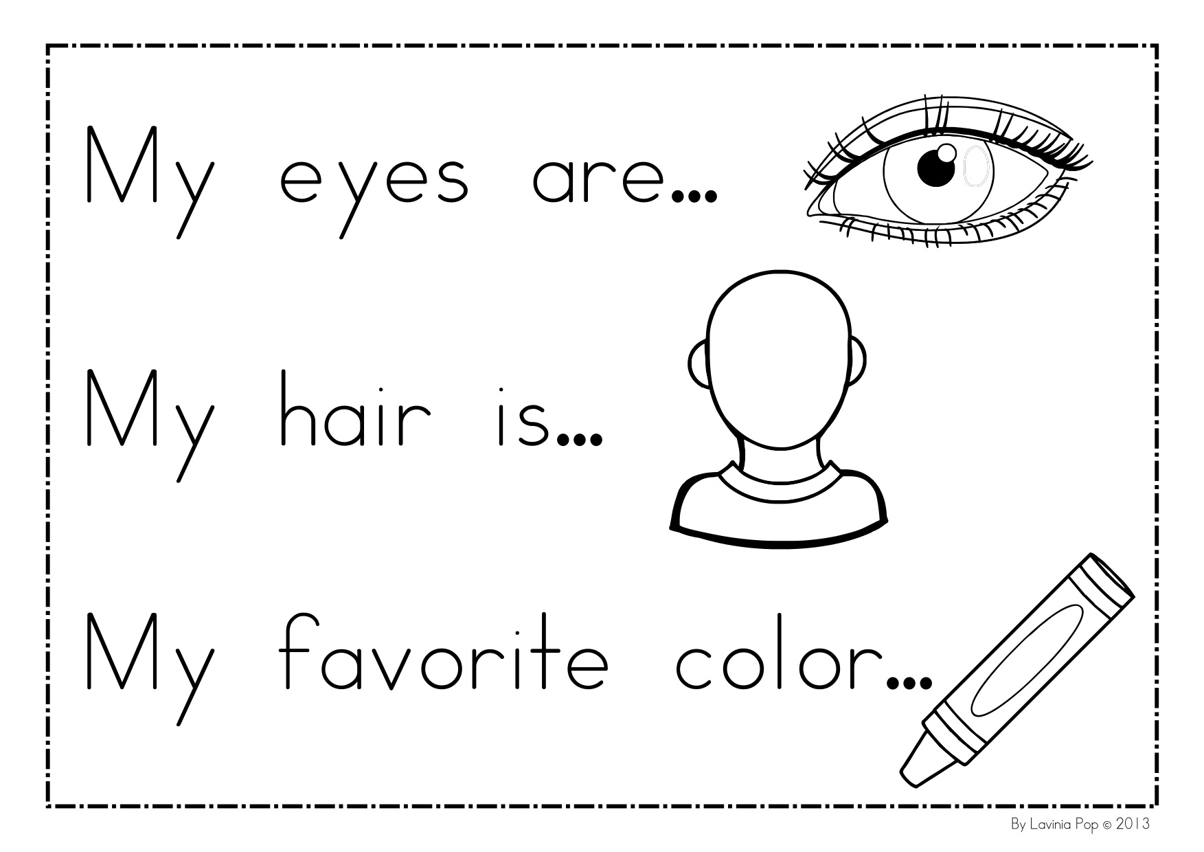 all about me coloring pages Collection-preschool all about me worksheet 13-i