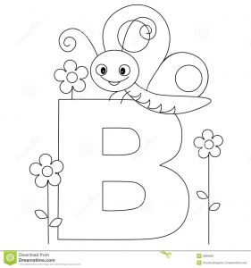 Alphabet Coloring Pages for toddlers - Animal Alphabet B Coloring Page 5b