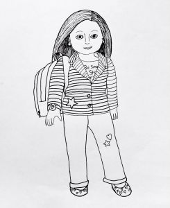 American Girl Coloring Pages - American Girl Doll Coloring Pages to and Print 20q